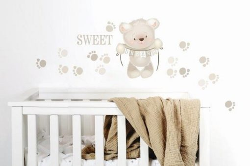 Teddy & paw prints resize