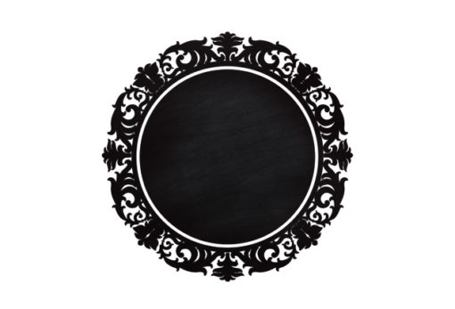 Chalkboard-Roung-frame