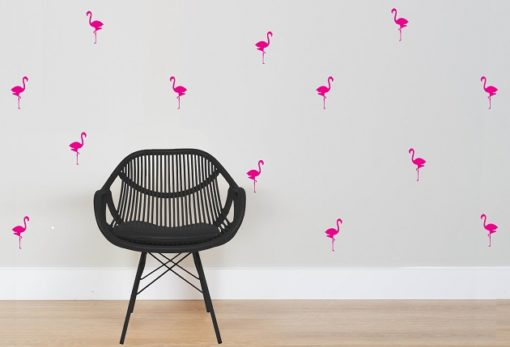 45 Flamingos bright pink web